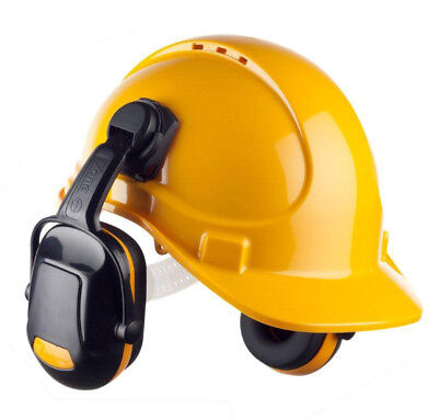 Scott HC300 Hard Hat Safety Helmet Sweatband with Zone 1 Clip on Ear Defenders