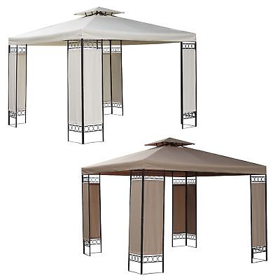 FoxHunter 3m x 3m x 2.6m Garden Pavilion Gazebo Shelter Patio Party Tent Marquee