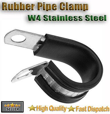 Rubber Lined Steel P Clips - Brake Pipe Tube Cable Wire Mounting Bracket 316ss