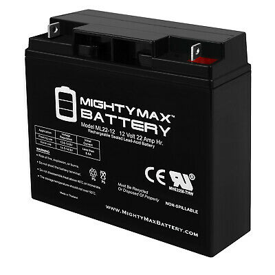 Mighty Max ML22-12 12V 22AH SLA AGM Battery Replacement for UB12220