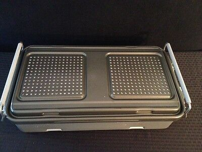 """GENESIS Full-Length Sterilization Container CD3-5B 22""""x12""""x5"""" Great Condition"""