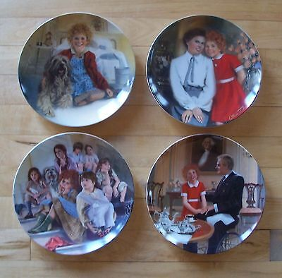 Set Lot of 4 ANNIE COLLECTOR'S PLATE SERIES Plates Sandy Grace Tomorrow Orphans