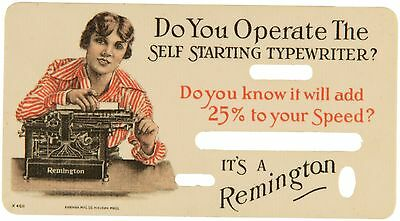Early Celluloid Typewriter Mistake Correction Cards.
