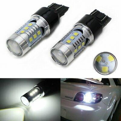 White High Power 15-SMD 360° 7440 7444 T20 LED Bulbs For Backup Reverse Lights