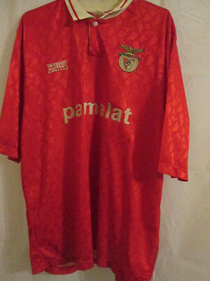 Benfica 1990-1991 Home Football Shirt Size XL /10682