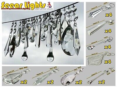 Vintage Wedding Beads 24 Xl Chandelier Droplets Crystals Glass Drops Prisms