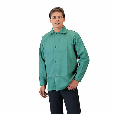 Tillman 6230 9oz Green FR Cotton Welding Jacket - XL