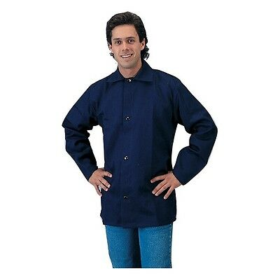 Tillman 6230B 9oz Navy Blue FR Cotton Welding Jacket - M