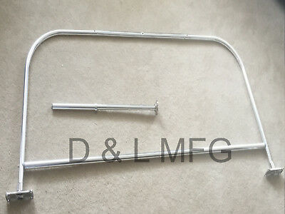 """d"" Shower Curtain Rod For Claw Foot Or Reg. Tub 54"""