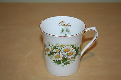 Queen's Rosina China Fine Bone China Mug Special Flowers October NEW