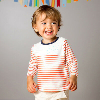 SALE 20% off Boys tee t-shirt with stripes and small blue birds