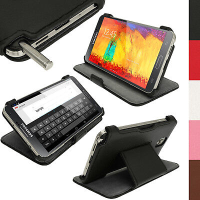 PU Leather Stand Case Cover for Samsung Galaxy Note 3 N9000 N9005 + Screen Prot