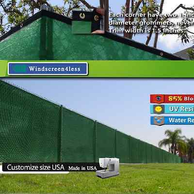 Custom Size 5' Tall Fence Privacy Screen Windscreen Mesh Fabric Cover Customize