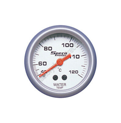 "GENUINE New Speco Meter 2"" Mechanical Water Temperature Gauge Silver 524-23"