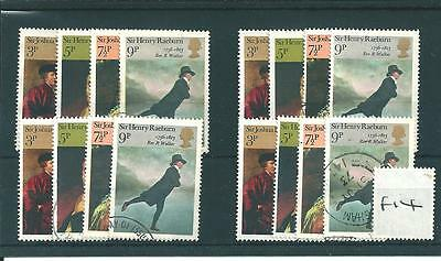 wbc. - GB WHOLESALE - 1973 - BRITISH PAINTINGS  - F14 - FOUR SETS  - FINE  USED