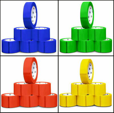 """Colored Carton Packing Tape, 2"""" x 55 Yds 2 Mil Tapes 36 Rolls Choose your Color"""