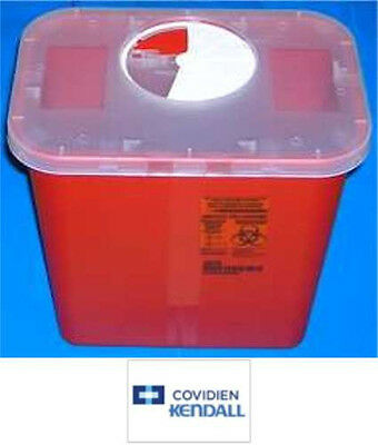 COVIDIEN KENDALL SharpSafety Sharps Container 8qt 2GL Rotating Rotor Clear Lid