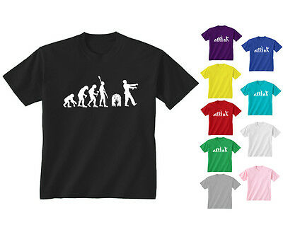 Youth Kids Childrens Evolution Of Zombie Funny Horror T-shirt Age 5-13 Years