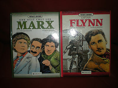 Collection Portraits Souvenirs Dargaud - Lot 2 Tomes En Eo Flynn + Marx Brothers