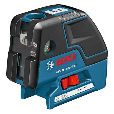 New BOSCH GCL25 Professional Five-Point Self Leveling Alignment Laser Cross-Line