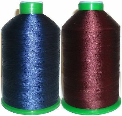 40/'S BONDED NYLON SEWING THREAD MID BLUE 302 LARGE 3000MTR IPCABOND BRAND