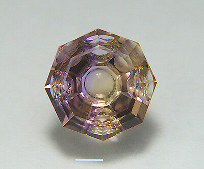 Ametrine. Precision Cut. Flat Facet With Carving. 12mm. 6.75cts & Flawless.
