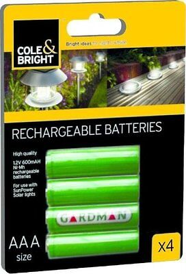 Cole & Bright NI-MH Rechargeable Batteries - 4 Pack 18148