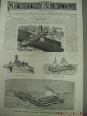 1882 London Naval and Marine Exhibition Life Saving Apparatus Magazine Antique