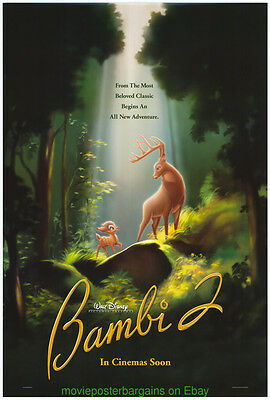 BAMBI 2 MOVIE POSTER Original DS 27x40 DISNEY ANIMATION 2006