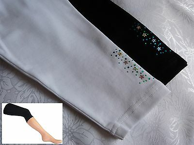Girls 3/4 Length Leggings Summer Dance Decorated With Stars from 5 to 12 Years