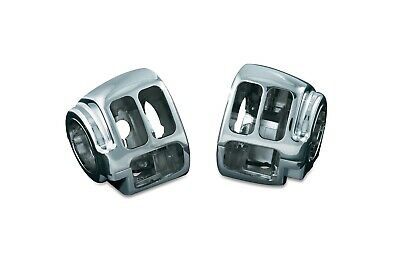 Chrome Switch Housings (pair) HARLEY SOFTAIL Heritage/Classic/Deuce (7808)