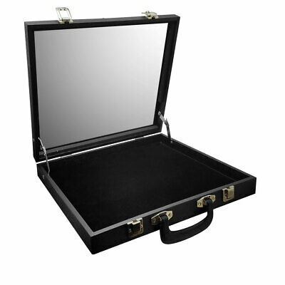 GLASS TOP TRAVELLING JEWELRY CASE STORAGE BOX TRAVEL CASE DISPLAY showcase tray