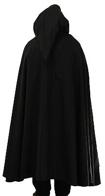 Black Corduroy Cloak 100 percent cotton cord with lined hood
