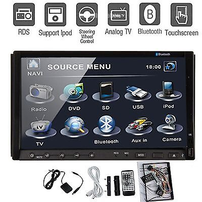 Double 2Din Touch Screen Dash Car DVD Player 7'' TV Radio Stereo BT RDS AUX G23