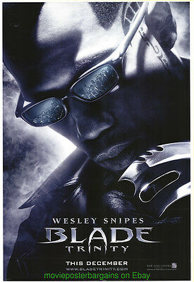 BLADE TRINITY MOVIE POSTER Original DS 27x40  Advance Style WESLEY SNIPES