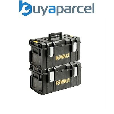 Dewalt DS300 Toughsystem Stack-able Toolbox Twin Pack