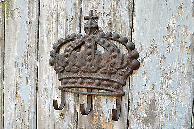Antique Style Rusted Iron Royal Crown Coat Rack Coat Hook Hooks Hanger • CAD $20.22