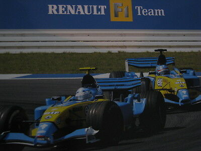 Accessoires & Fanartikel Renault F1 Team R24 Fernando Alonso 2004 Promotion Formula 1 Poster Double Sided