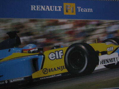 Renault F1 Team R24 Fernando Alonso 2004 Promotion Formula 1 Poster Double Sided Automobilia Accessoires & Fanartikel
