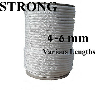 PolyRope Washing Clothes Line Pulley Poly Rope Strong Polypropylene White 4-10mm