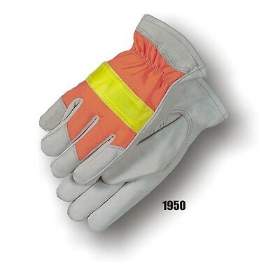 Majestic High Visibility Reflective Cowhide Leather Work Gloves 1950 X-Large