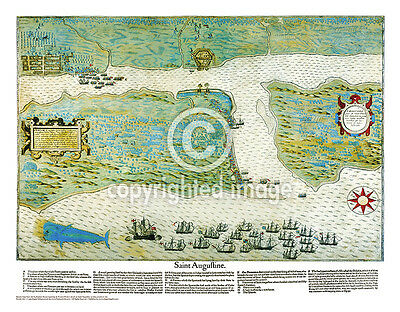 """19.5 x 25/"""" St Martin Vintage Look Map Printed on Frenchtone Parchment Paper-YLW"""