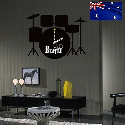 MODERN 3D DIY THE BEATLES STYLED INTERIOR WALL CLOCK UNIQUE GIFT IDEAS