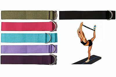 D-Ring Yoga Belt Strap Stretching Equipment Belts Exercise Training Fitness