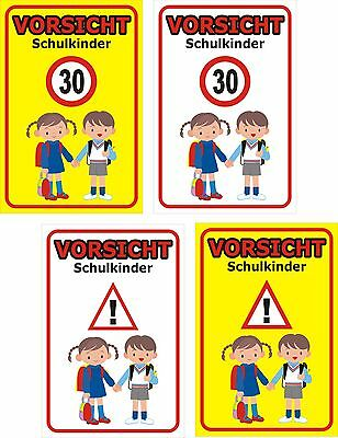 schild achtung spielende kinder schulkinder 30x20 40x30. Black Bedroom Furniture Sets. Home Design Ideas