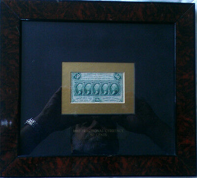 Circulated Framed 50c Fractional Note 1862