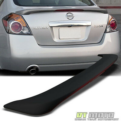 07-12 Nissan Altima 4Dr Sedan Rear Trunk ABS Spoiler LED Brake Light Matte Black