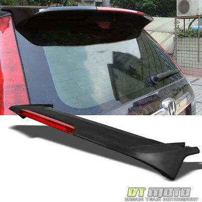 Matt Black 07-11 Honda CRV CR-V Factory Style Rear Trunk Spoiler LED Brake Light