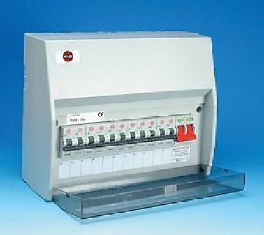 Wylex 17th Edition NH1404 14 Way Consumer Unit + 12 RCBO's 100A Switch Isolator