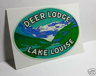 LAKE LOUISE Canada Vintage Style Travel Decal, Vinyl Sticker, luggage label